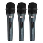 Kit Microfone Dinâmico Vocal com Fio K-3.1 (3 Peças) Kadosh