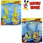 Kit Mini Instrumento Musical Infantil com 2 Pecas Mickey