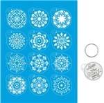 Kit Mini Stencil Chaveiro Mandalas - STMI-015