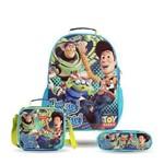 Kit (Mochila de Costas+lancheira+estojo) Toy Story Original - Dermiwil