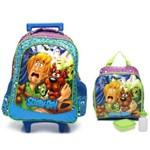 Kit Mochila de Rodinha Infantil Scooby-Doo Tam. G Xeryus