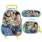 Kit Mochila de Rodinhas + Lancheira + Estojo Duplo Toy Story You Can Fly - Dermiwil G