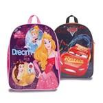 Kit Mochila Escolar G Disney Princesas e Carros