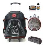 Kit Mochila Escolar Infantil Star Wars Darth Vader Tam G Original