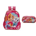 Kit Mochila + Estojo Duplo Paw Patrol Girl Team Xeryus