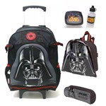 Kit Mochilete Escolar Star Wars Darth Vader Original Tam G com Lancheira e Estojo