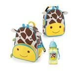 Kit Mochila Lancheira e Garrafinha Zoo Girafa Skip Hop