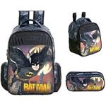 Kit Mochila+ Lancheira + Estojo Batman Gotham Xeryus M- 7593