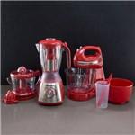 Kit Mondial Especial Gourmet Red Premium Liquidificador, Batedeira e Espremedor