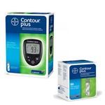 Kit Monitor de Glicemia Contour Plus + 50 Tiras