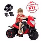 Super Moto Elétrica Ban Moto 6v Preto Acompanha Kit Completo Proteção Preto