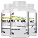 Kit 3 Multimais Polivitaminico 550mg Chá Mais 120 Cápsulas