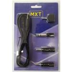 Kit Mxt com 04 Adaptadores + Cabo Extensão 1,80m P2 Stereo