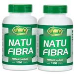 Kit 2 Natu Fibra - Fibras e Algas 240 Cápsulas Unilife