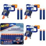 Kit Nerf - 3 Lançadores N-Strike Elite Jolt + Refil