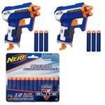 Kit Nerf - 2 Lançadores N-Strike Elite Triad + Refil