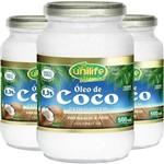 Kit - 3 Óleo de Coco Extra Virgem Unilife 500ml
