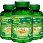 Kit 3 Oligo-Fos Frutooligossacarídeos Unilife 120 Cápsulas