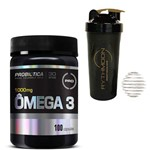 Kit Omega 3 100caps + Coqueteleira 600ml com Mola