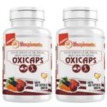 Kit 2 Oxicaps - Óleos de Sementes de Uva, Cenoura, Maçã e Cacau 120 Cápsulas de 1000mg Melcoprol