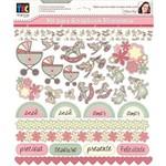 Kit P/ Scrapbook Momentos Bebê Menina Scft02 - Toke e Crie By Flavia Terzi