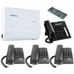Kit PABX Telefonia Fixa 2x4 Disa Intelbras TI 830 I Kit 13