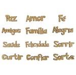 Kit Palavras em Português para Decoração com 12 Unidades em MDF a Laser - Palácio da Arte