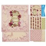 Kit Papel Scrap Decor Litoarte KSD-006 30,5x30,5cm 6 Folhas Sortidas Rosas e Perfume