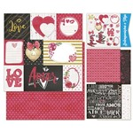 Kit Papel Scrap Decor Litoarte KSD-007 30,5x30,5cm 6 Folhas Sortidas Amor