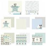 Kit Papel Scrapbook Toke e Crie SDFD132 Dupla Face 30,5x30,5cm com 12 Folhas Sortidas Disney Baby Mickey