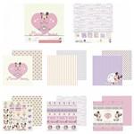 Kit Papel Scrapbook Toke e Crie SDFD133 Dupla Face 30,5x30,5cm com 12 Folhas Sortidas Disney Baby Minnie