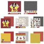 Kit Papel Scrapbook Toke e Crie SDFD130 Dupla Face 30,5x30,5cm com 12 Folhas Sortidas Disney Mickey Mouse