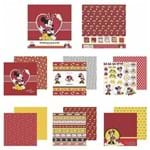 Kit Papel Scrapbook Toke e Crie SDFD131 Dupla Face 30,5x30,5cm com 12 Folhas Sortidas Disney Minnie Mouse