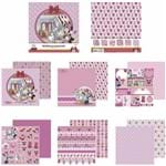 Kit Papel Scrapbook Toke e Crie SDFD140 Dupla Face 30,5x30,5cm com 12 Folhas Sortidas Disney Hora do Chá com a Minnie