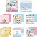 Kit Papel Scrapbook Toke e Crie SDFD137 Dupla Face 30,5x30,5cm com 12 Folhas Sortidas Disney Princesas