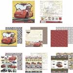 Kit Papel Scrapbook Toke e Crie Sdfd138 Dupla Face 30,5x30,5cm com 12 Folhas Sortidas Disney Carros