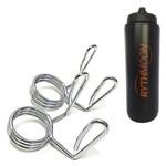 Kit Par de Presilha Olímpica Metal LS2330 - Liveup + Squeeze Automático 1lt