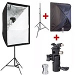 Kit para Flash Speedlight C/ Tripé Softbox 60x90 e Suporte Ls24