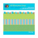 Kit para Scrapbook Mini II Bebê Menino - TEC