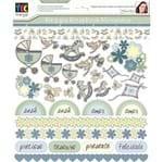 Kit para Scrapbook Momentos By Flavia Terzi - Bebê Menino