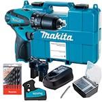 Kit Parafusadeira/Furadeira de Impacto HP330DWE + Brocas- 8 Pçs-D-57227-Makita