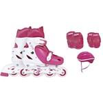 Kit Patins Roller Infantil com Proteção 30-37