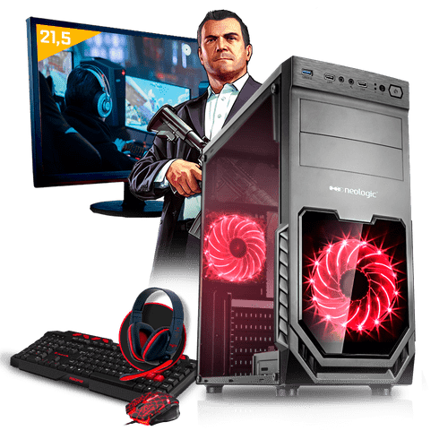 Kit PC Gamer Neologic NLI80309 Amd A10 9700 8GB(Radeon R7 Integrada)1TB + Monitor 21,5""