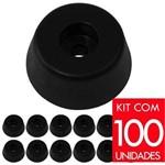 Kit Pé Grande Pvc para Caixa Acústica Som - 100 Unidades