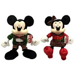 Kit Pelúcias de Natal Grandes 46cm Disney : Mickey e Minnie