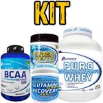 Kit Performace Puro Whey Baunilha 2kg+bcaa Science 500(200 Tabs)+crea Pepto 300g+glutamine 300g