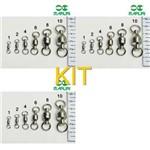 Kit Pesca 30 Girador com Rolamento Nr 01, Nr 02 e Nr 04
