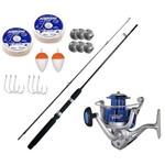 Kit Pesca 1 Molinete Lagus 4000 + Vara Maruri Athena 1,65m + Kit Acessórios