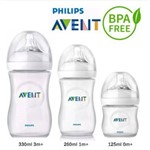 Kit Philips Avent Pétala com 3 Mamadeiras de 125 260 330 Ml Anticólica Bpa Free