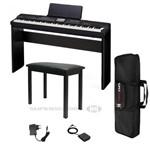 Kit Piano Digital Casio Priva Px-360m Preto 88 Teclas -tela Touch Colorida + Estante P/ Piano Cs-67b